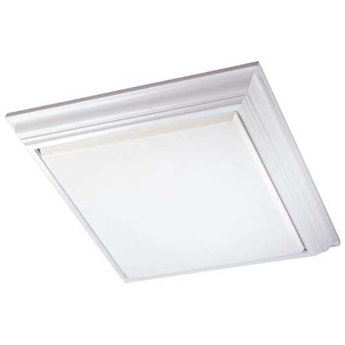 Minka Lavery Flushmount Light with White Glass in White Finish 1000-44-PL