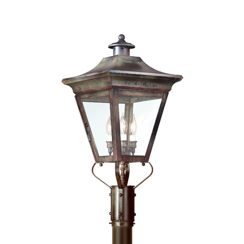 Troy Lighting Post Light with Clear Glass in Natural Rust Finish PCD8934NR