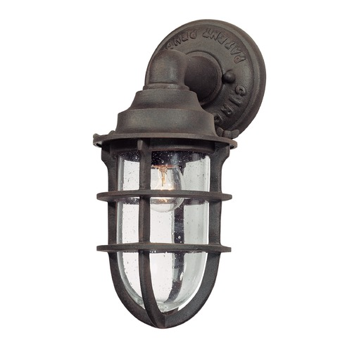 Troy Lighting Seeded Glass Outdoor Wall Light Nautical Rust Troy Lighting B1865NR