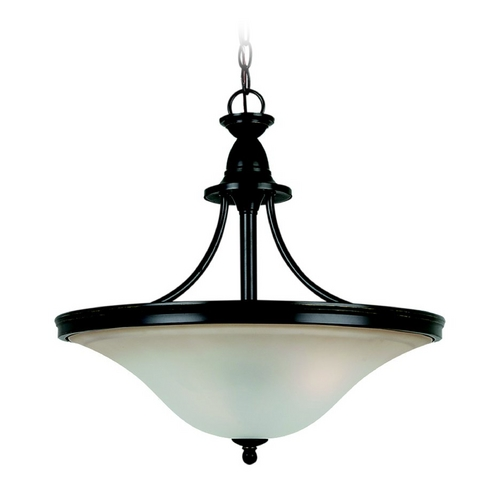 Sea Gull Lighting Pendant Light with Amber Glass in Heirloom Bronze Finish 65851-782