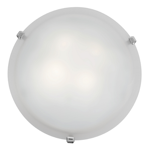 Access Lighting Modern Flushmount Light with White Glass in Chrome Finish 23020-CH/WH