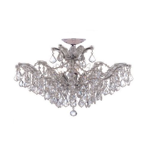 Crystorama Lighting Crystal Chandelier in Polished Chrome Finish 4439-CH-CL-MWP