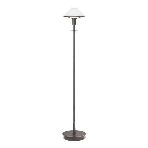 Holtkoetter Lighting Holtkoetter Lighting 6515/1-HB/OB-TRUE WHITE Halogen Floor Lamp with White Glass Shade in Old Bronze 6515/1-HB/OB-TRUE WHITE