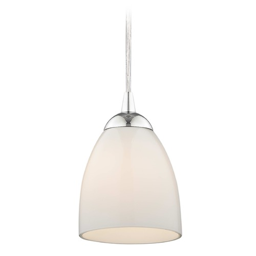 Design Classics Lighting Design Classics Gala Fuse Chrome LED Mini-Pendant Light with Bell Shade 682-26 GL1024MB