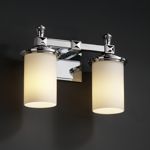 Justice Design Group Justice Design Group Fusion Collection Bathroom Light FSN-8532-10-OPAL-CROM
