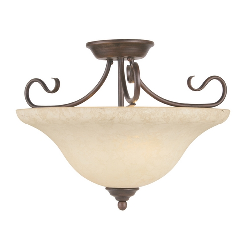 Livex Lighting Livex Lighting Coronado Imperial Bronze Semi-Flushmount Light 6130-58