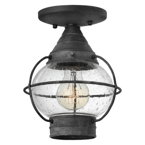 Hinkley Lighting Hinkley Lighting Cape Cod Aged Zinc Close To Ceiling Light 2203DZ
