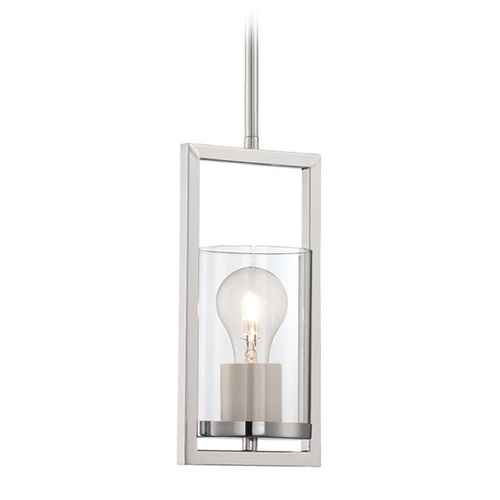 Lite Source Lighting Lite Source Felipe Chrome Mini-Pendant Light with Cylindrical Shade LS-19790