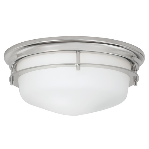 Norwell Lighting Norwell Lighting Galley Polished Nickel Flushmount Light 5632-PN-MO