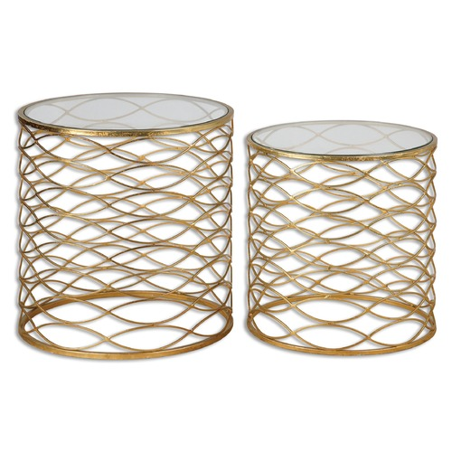 Uttermost Lighting Uttermost Zoa Gold Accent Tables Set of 2 24434