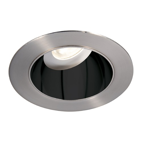 WAC Lighting WAC Lighting Round Black Brushed Nickel 3.5-Inch LED Recessed Trim 2700K 970LM 55 Degree HR3LEDT318PF927BBN