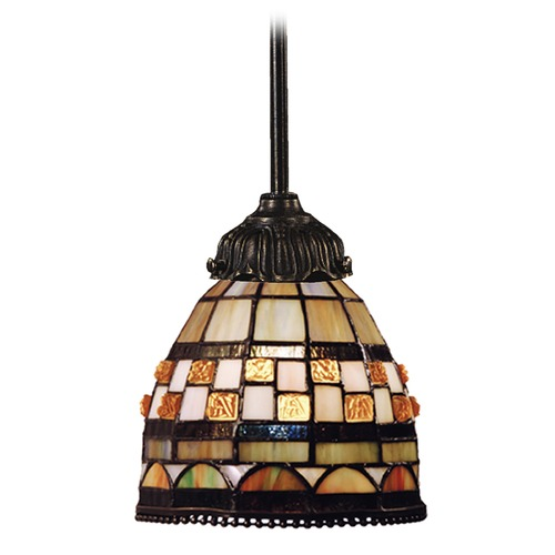 Elk Lighting Mini-Pendant Light with Multi-Color Glass 078-TB-10