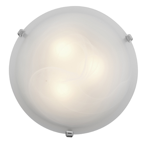 Access Lighting Modern Flushmount Light with Alabaster Glass in Chrome Finish 23019-CH/ALB