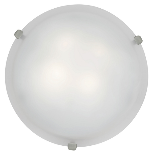 Access Lighting Modern Flushmount Light with White Glass in Brushed Steel Finish 23020-BS/WH