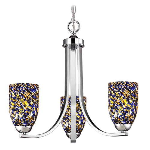 Design Classics Lighting Design Classics Dalton Fuse Chrome Mini-Chandelier 5843-26 GL1009D