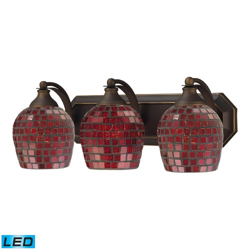 Elk Lighting Elk Lighting Bath and Spa Aged Bronze LED Bathroom Light 570-3B-CPR-LED