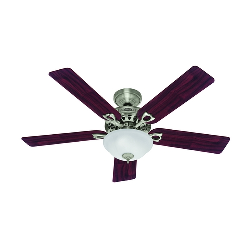 Hunter Fan Company Hunter Fan Company the Astoria Brushed Nickel Ceiling Fan with Light 53058