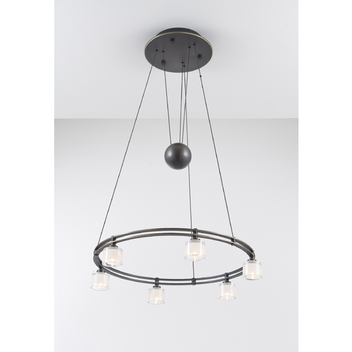 Holtkoetter Lighting Holtkoetter Modern Low Voltage Drum Pendant Light with White Glass in Hand-Brushed Old Bronze Finish 5556 HBOB G5011