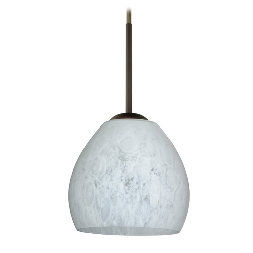 Besa Lighting Besa Lighting Bolla Bronze LED Mini-Pendant Light with Bell Shade 1BT-412219-LED-BR