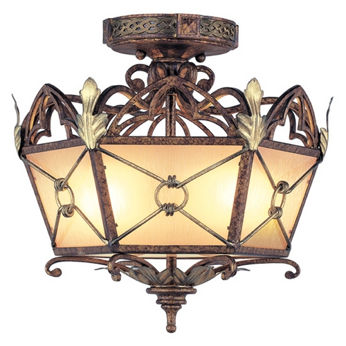 Livex Lighting Livex Lighting Bristol Manor Palacial Bronze with Gilded Accents Semi-Flushmount Light 8823-64
