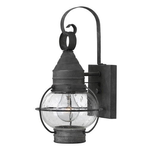 Hinkley Lighting Seeded Glass Outdoor Wall Light Zinc Hinkley Lighting 2206DZ
