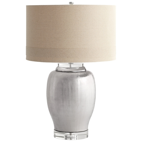Cyan Design Cyan Design Chrome Radiance Satin Chrome Table Lamp with Drum Shade 06316