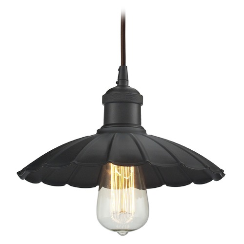 Elk Lighting Elk Lighting Corrine Oil Rubbed Bronze Pendant Light with Scalloped Shade 67040/1