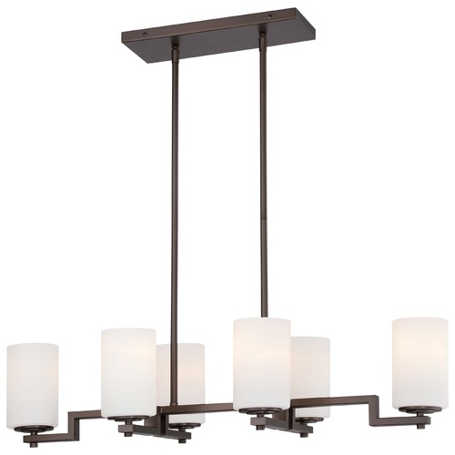 Minka Lighting Minka Morlaix Harvard Court Bronze Island Light with Cylindrical Shade 4416-281