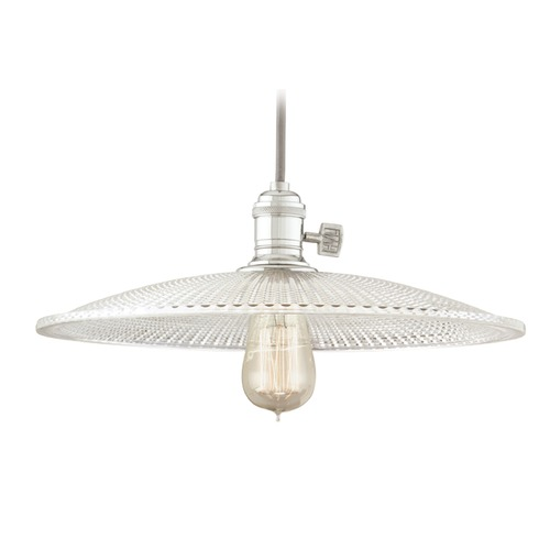 Hudson Valley Lighting Hudson Valley Lighting Heirloom Polished Nickel Pendant Light with Bowl / Dome Shade 8001-PN-GL4