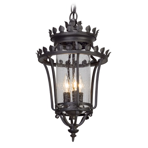 Troy Lighting Troy Lighting Greystone Forged Iron Outdoor Hanging Light F5137