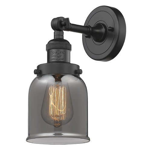 Innovations Lighting Innovations Lighting Small Bell Matte Black Sconce 203-BK-G53