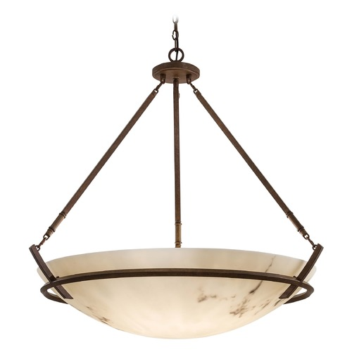 Minka Lavery Pendant Light with Alabaster Glass in Nutmeg Finish 83-14