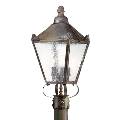 Troy Lighting Post Light with Clear Glass in Natural Rust Finish PCD8944NR