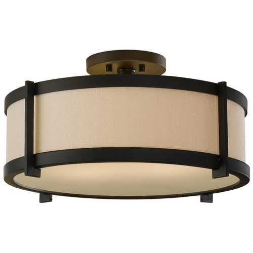 Feiss Lighting Modern Semi-Flushmount Lights in Oil Rubbed Bronze Finish SF272ORB