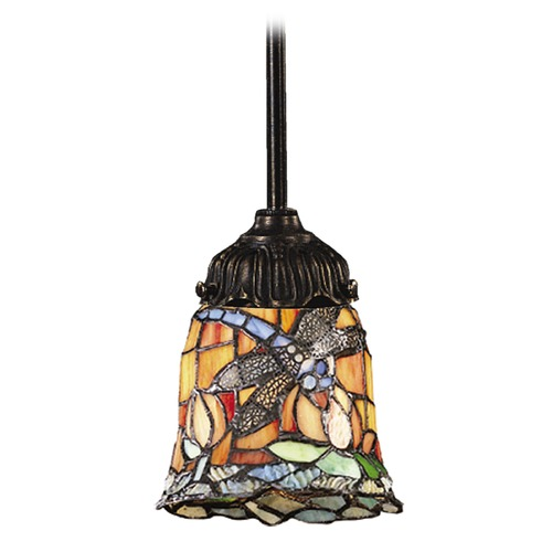 Elk Lighting Mini-Pendant Light with Multi-Color Glass 078-TB-12