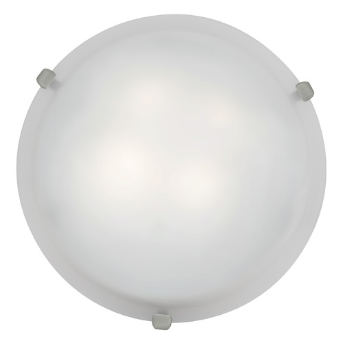 Access Lighting Modern Flushmount Light with White Glass in Brushed Steel Finish 23019GU-BS/WH