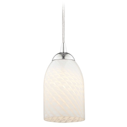Design Classics Lighting Design Classics Gala Fuse Chrome LED Mini-Pendant Light with Bowl / Dome Shade 682-26 GL1020D