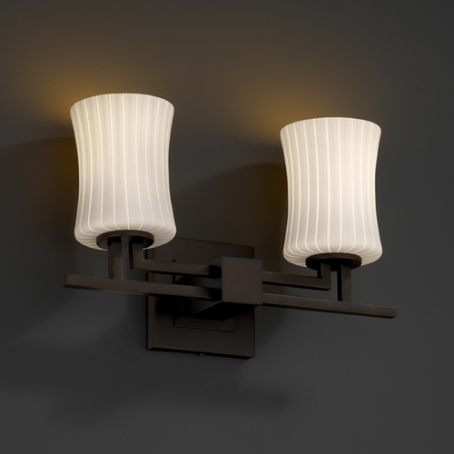 Justice Design Group Justice Design Group Fusion Collection Bathroom Light FSN-8702-60-RBON-DBRZ
