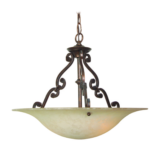 Jeremiah Lighting Jeremiah Toscana Aged Bronze Pendant Light with Bowl / Dome Shade X1916-AG