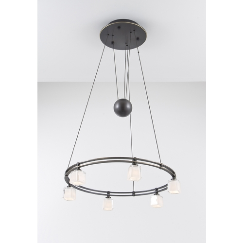 Holtkoetter Lighting Holtkoetter Modern Low Voltage Pendant Light with White Glass in Hand-Brushed Old Bronze Finish 5556 HBOB G5012