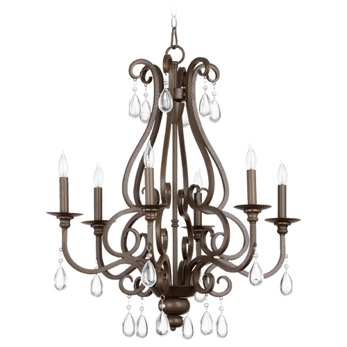 Quorum Lighting Quorum Lighting Anders Oiled Bronze Chandelier 6013-6-86