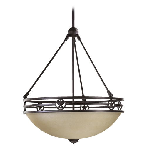Quorum Lighting Quorum Lighting Lone Star Toasted Sienna Pendant Light 8028-4-44