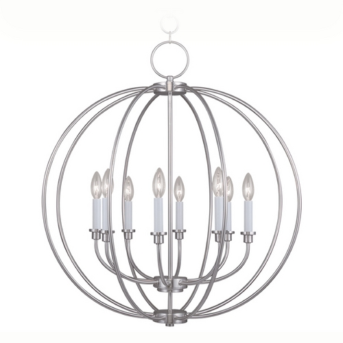 Livex Lighting Livex Lighting Milania Brushed Nickel Pendant Light 4668-91