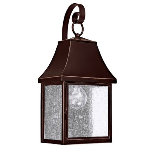 Capital Lighting Seeded Glass Outdoor Wall Light Bronze Capital Lighting 9061NB