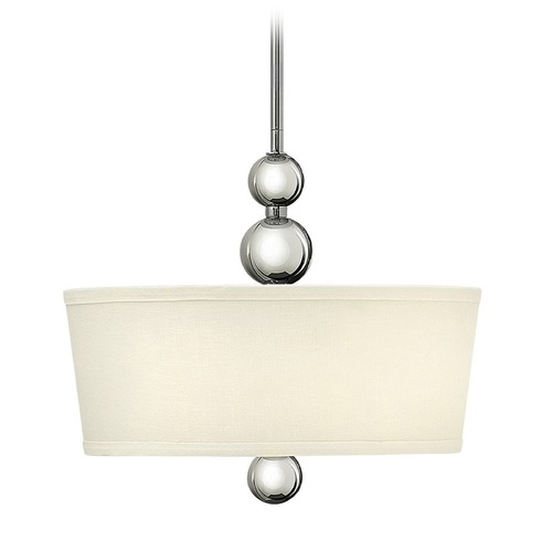 Hinkley Lighting Hinkley Lighting Zelda Polished Nickel LED Pendant Light with Conical Shade 3443PN-LED
