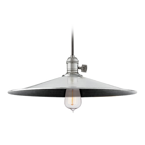 Hudson Valley Lighting Hudson Valley Lighting Heirloom Polished Nickel Pendant Light with Coolie Shade 8001-PN-ML1