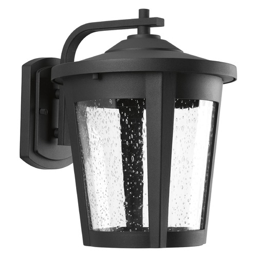 Progress Lighting Seeded Glass LED Outdoor Wall Light Black Progress Lighting P6079-3130K9