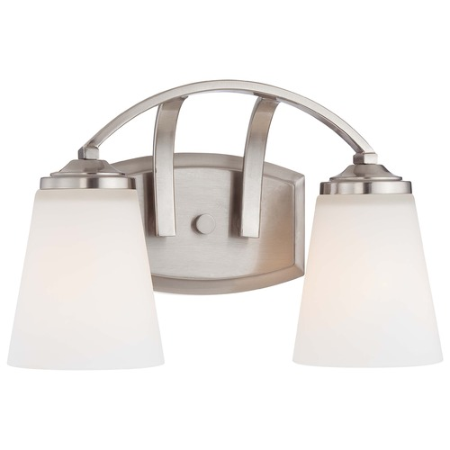 Minka Lavery Overland Park Brushed Nickel Bathroom Light 6962-84