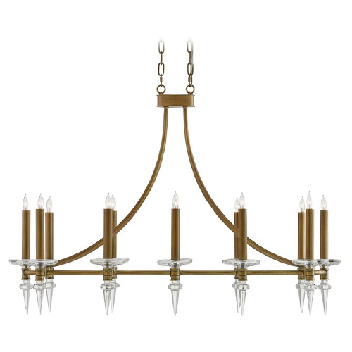 Currey and Company Lighting Currey and Company Leandre Antique Brass Island Light 9000-0034