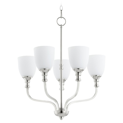 Quorum Lighting Quorum Lighting Richmond Polished Nickel Chandelier 6811-5-62